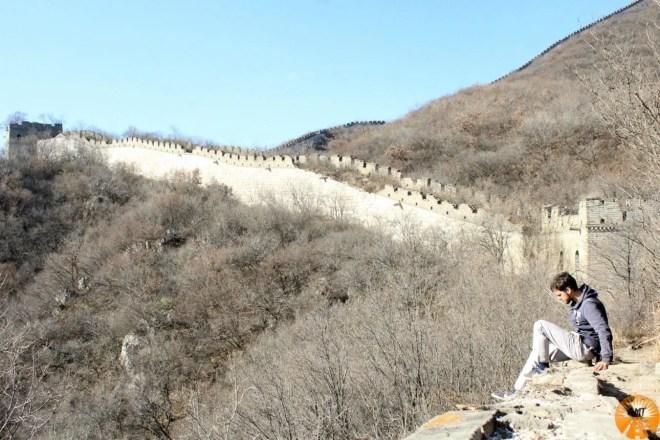 muraglia cinese altezza montagne