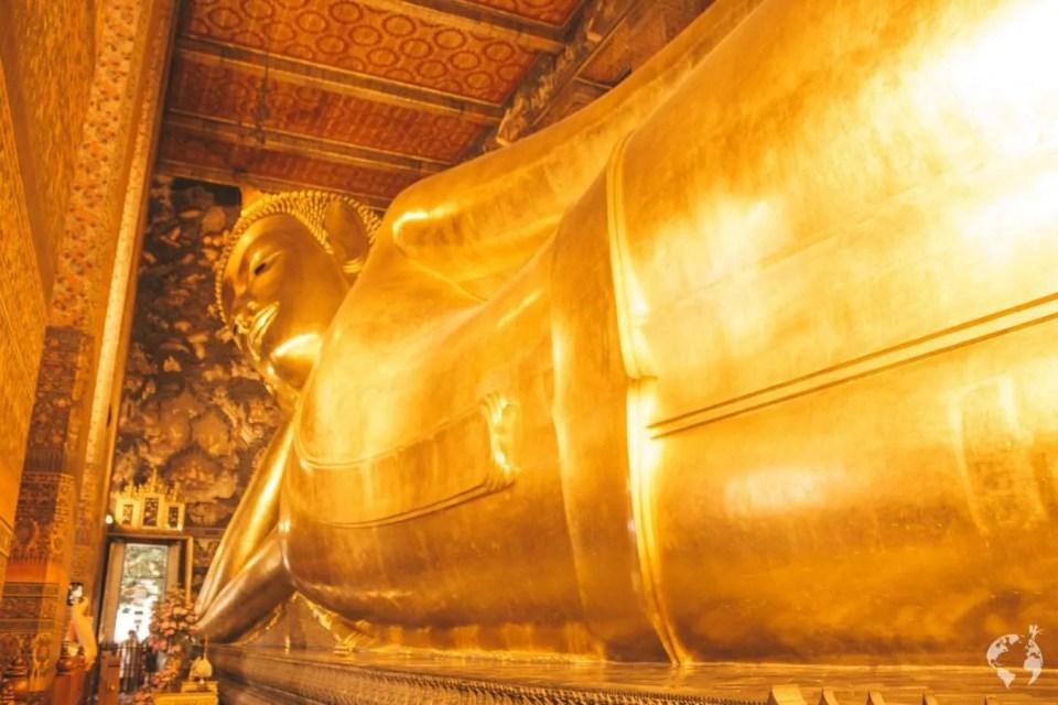 Reclining Buddha Wat pho where to see Bangkok