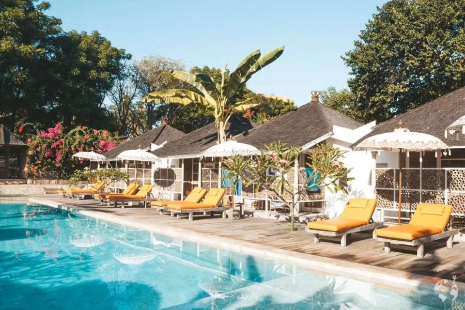 Les Villas Ottalia Gili Meno swimming pool photos