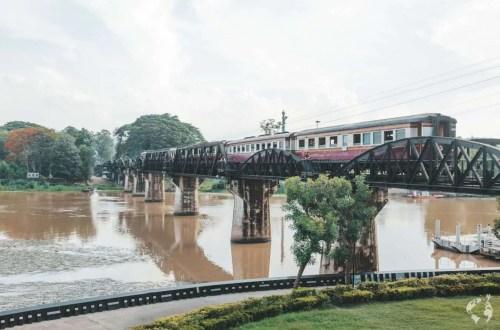 Bridge on River Kwai by train
