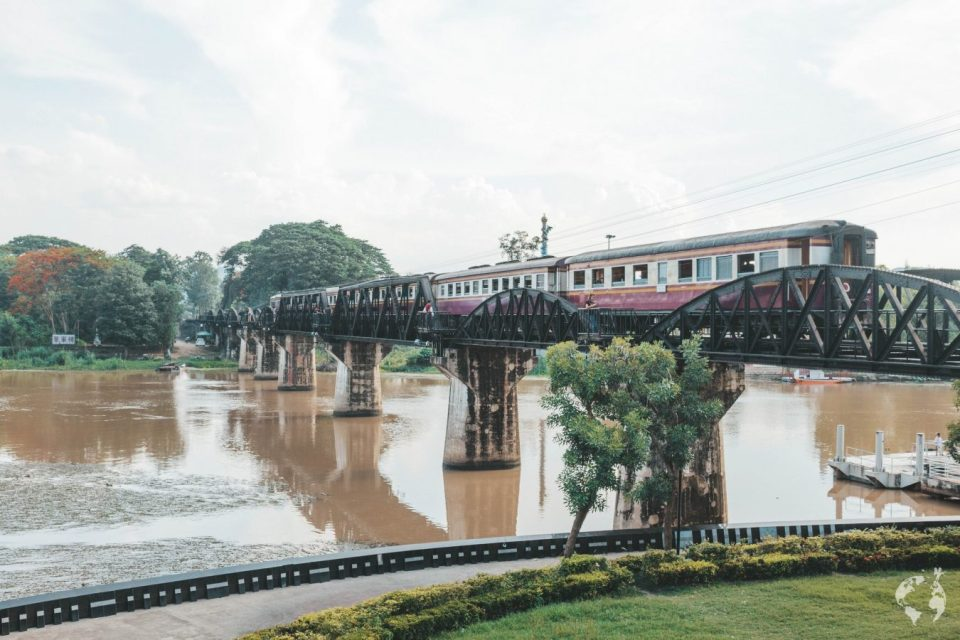 Bridge on River Kwai by train