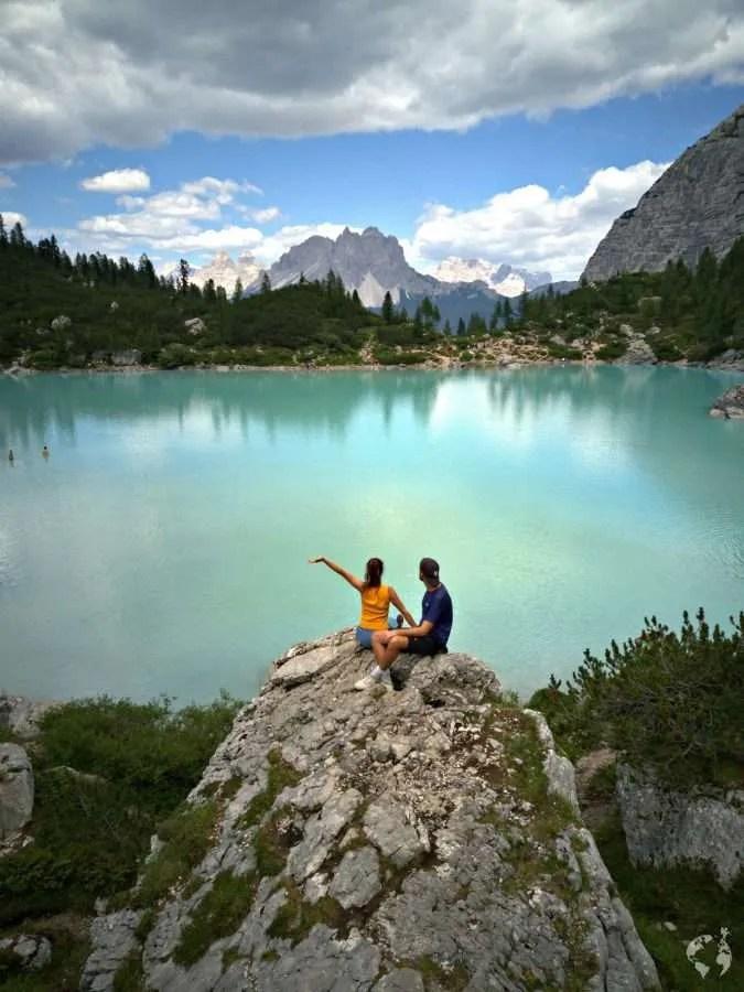 foto lago di sorapis dolomiti