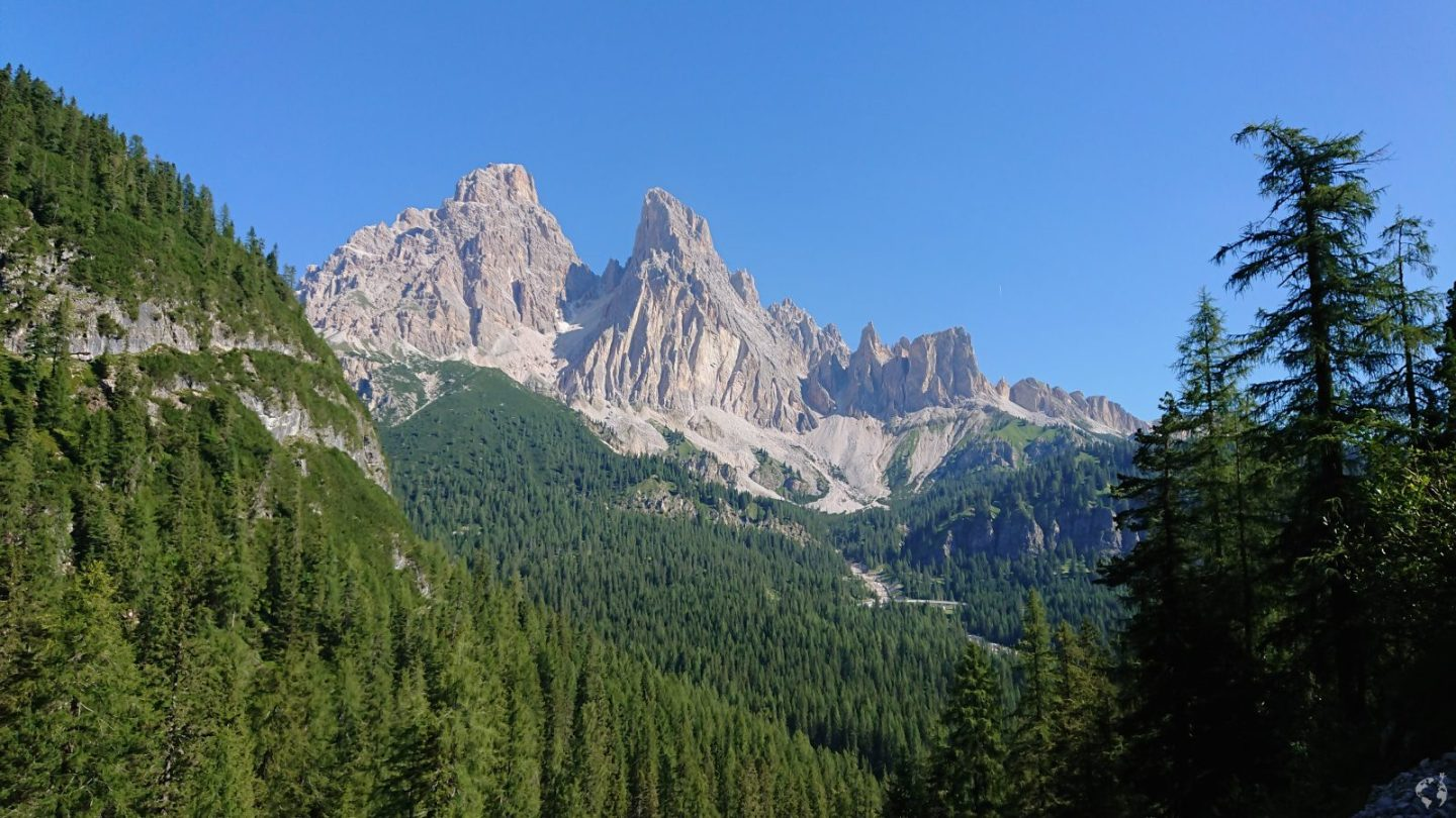 Cristallo mountain Dolomites
