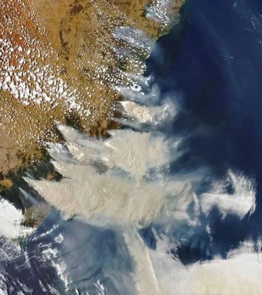 foto bushfire new south wales satellite