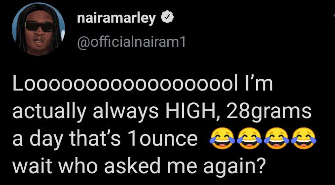 Naira Marley Reveals How Much Marijuana He Takes Daily