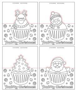Christmas Cupcake Pop-Up Cards