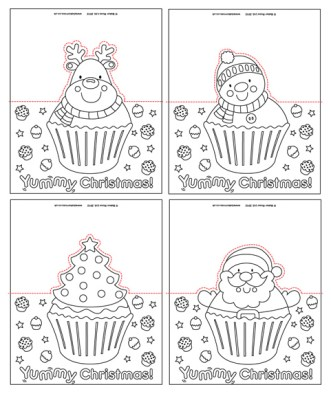 Christmas Cupcake Pop-Up Cards
