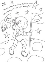 Astronaut-colouring-image
