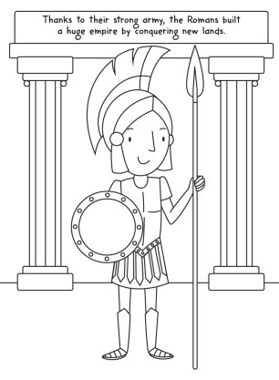 Romans-colouring-image