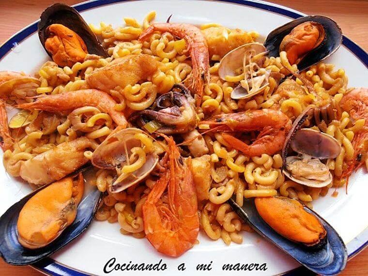 Recetas De Cocina Pescado | Fideua De Pescado Y Marisco