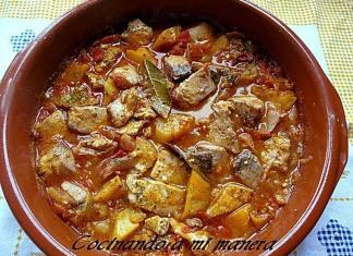 receta de bonito con patatas