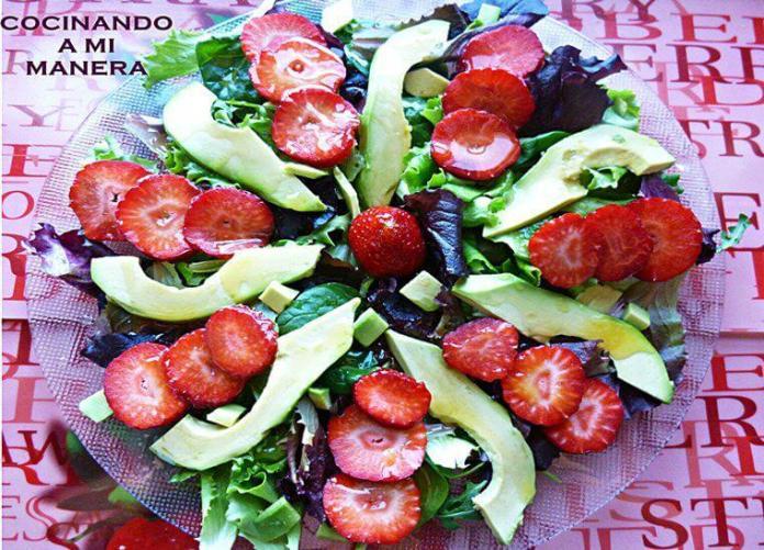 ensalada con fresas