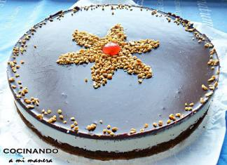 tarta de leche condensada y chocolate