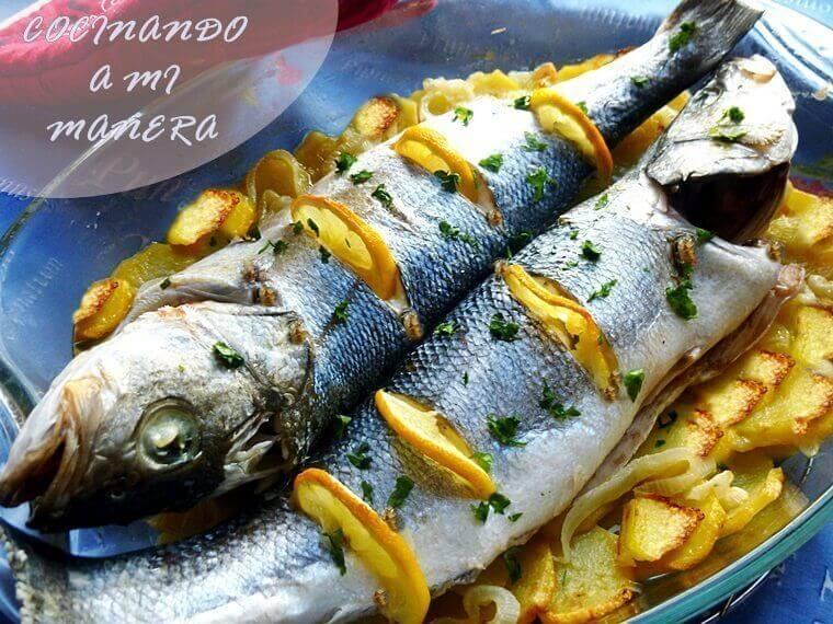 Cocinar Lubina Al Horno   Lubina Al Horno Con Patatas Sencilla Y Deliciosa