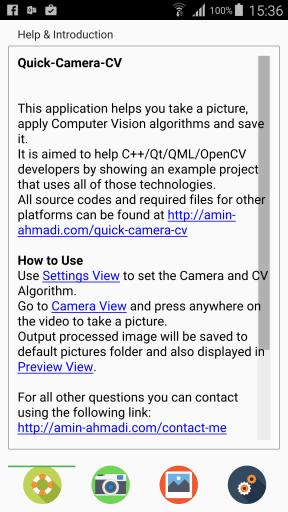 Quick-Camera-CV Screenshot