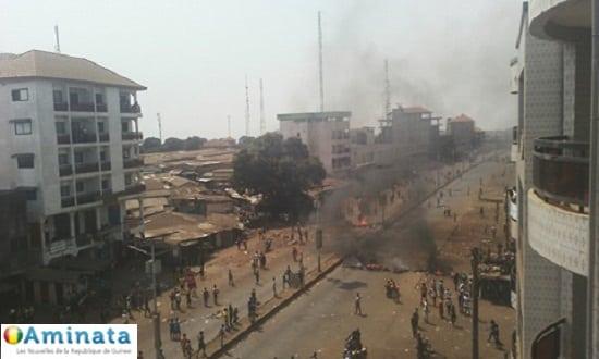 Manif Bambato-Cosa, Koloma, police, violences, affrontement, grève, ville morte