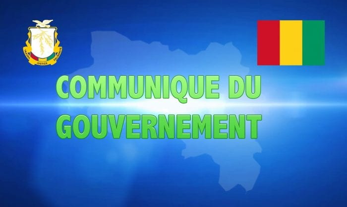 communique du gouvernement