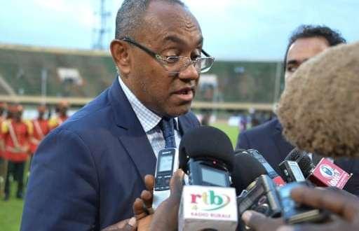 Le président de la CAF Ahmad Ahmad, en interview, le 4 août 2017 à Ouagadougou | AFP/Archives | Ahmed OUOBA