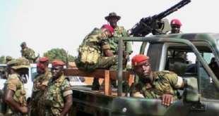 Des militaires guinéens lors du coup d'Etat après la mort de Lansana Conté