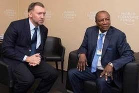 Alpha Condé et le président de Rusal
