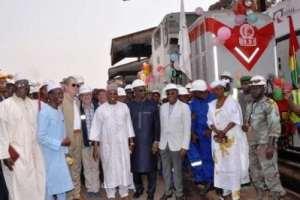 Le train de Rusal transportant l'alumine