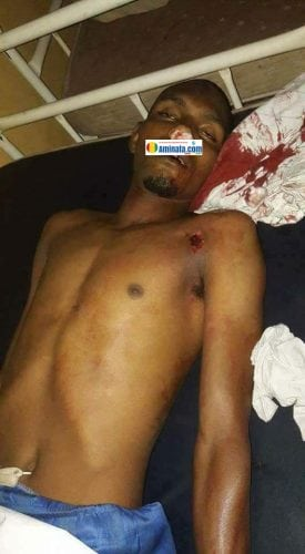 Le corps de Boubacar Sidy Diallo, 32 ans, étudiant tué par des policiers balle lors des violences à Dar-salam