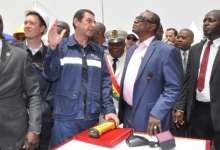 Alpha Condé lors du lancement du projet Dian-Dian à Kamsar
