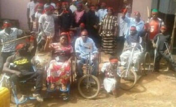 Des handicapés manifestent à Kindia
