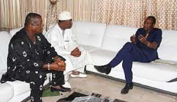 Alpha Condé et Amadou Diallo à Sekhoutoureyah