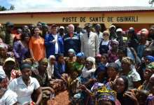 Une délégation de Rusal inaugure le centre de santé Gbinkili