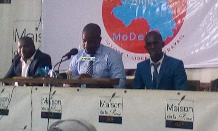 Aliou Bah lors de la présentation de son parti le MoDel