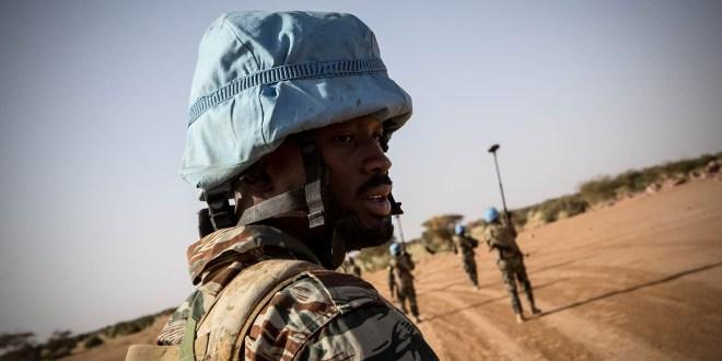 Un militaire guinéen membre de casque bleu au Mali