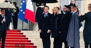 Le Roi du Maroc avec Emmanuel Macron à Paris
