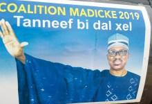 Une affiche électorale de Madiké Niang pour la présidentielle de 2019