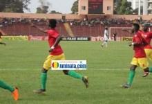 Des joueurs du Syli national de Guinée moins de 23 ans s'impose face au Sénégal