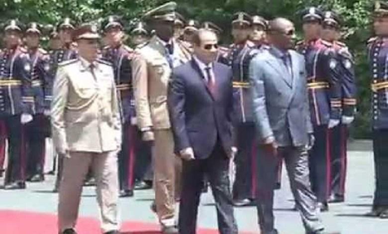 Le Maréchal Abdel Fattah Al-sissi et Alpha Condé au Caire