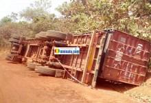 Accident d'un camion rempli de cyanure