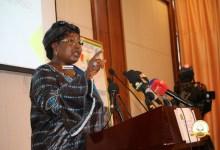Conférence de presse de Mariama Sylla, ministre de l'action sociale