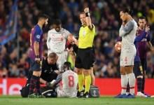 Naby Keita, blessé lors d'un match avec le Barça