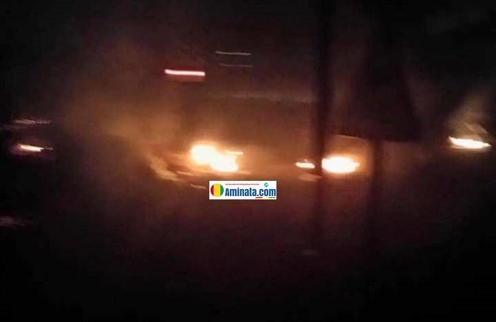 Violentes manifestations à Dabondy rails