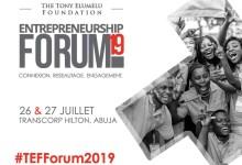 Forum des entrepreneurs organisé par la fondation Tony Elumelu