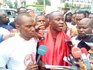 Gabriel Haba, porte-parole du collectif pour le soutien à Mamoudou BARRY