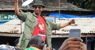 Cellou Dalein Diallo lors d'une manifestation contre le 3e mandat
