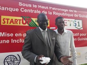 Kandji Alioune et Mamadou Bailo Danso, chargé des médias à Cellcom Guinée