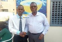 Faya Millimono reçoit Ibrahima Kalil Diallo, président du Collectif des jeunes démocrates de Guinée (CJDG)