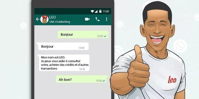 UBA Guinée lance la version whatsapp de LEO, le banquier virtuel