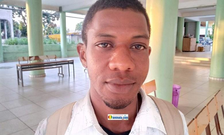 Thierno Amadou Oury Diallo, responsable de communication de l'ONG, l'Union Nationale pour la Promotion de la jeunesse (UNPJ)