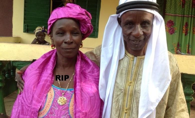 Feue Hadja Yama M'Böh avec son époux Elhadj Mamadou M'Böh
