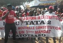 Marche du Front national pour la défense de la constitution (FNDC)-Labé