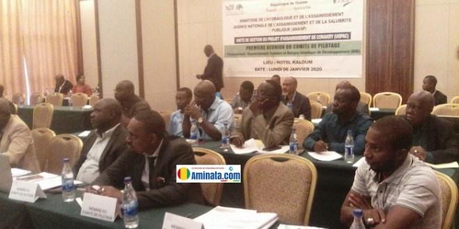 Première réunion du comité de pilotage du projet d'assainissement de Conakry(PAC-2GUI 1002)